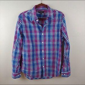 Banana Republic Plaid Soft Wash Long Sleeve Shirt